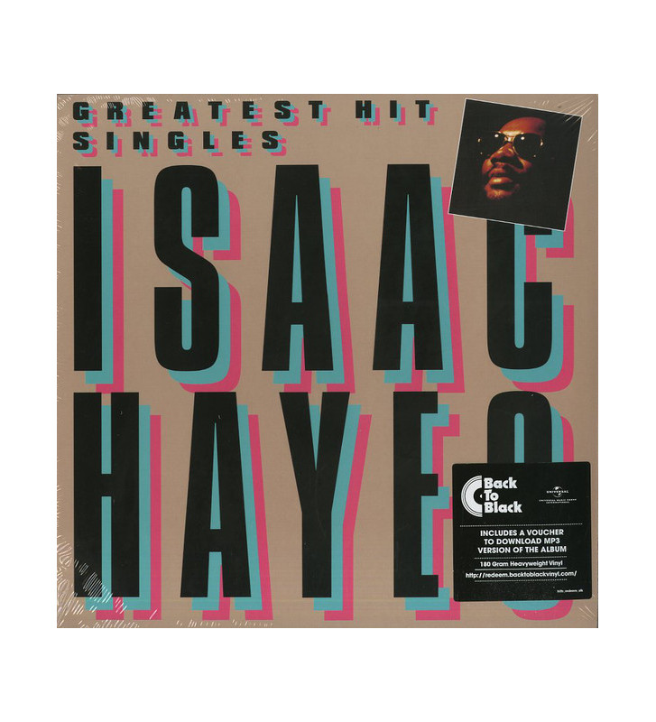Isaac Hayes - Greatest Hit Singles (LP, Comp, RE, 180) mesvinyles.fr