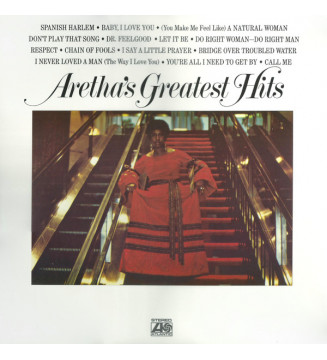 Aretha Franklin - Aretha's Greatest Hits (LP, Comp, RE)