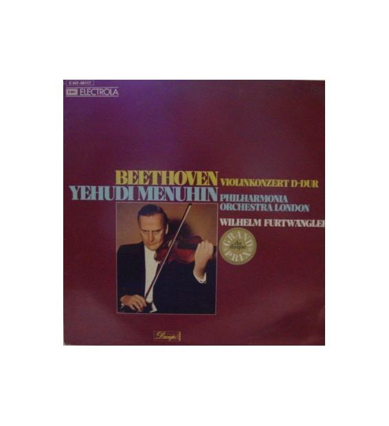 Beethoven* - Yehudi Menuhin, Philharmonia Orchestra London*, Wilhelm Furtwängler - Violinkonzert D-Dur (LP, Album, RE)