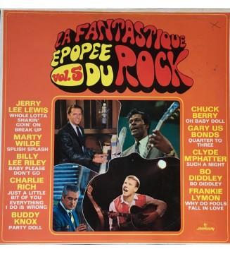 Various - La Fantastique Epopée Du Rock Vol.5 (LP, Comp) mesvinyles.fr