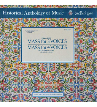 William Byrd - Deller Consort, Alfred Deller - Mass For Three Voices • Mass For Four Voices (LP)