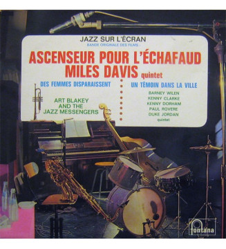 Miles Davis Quintet* / Art Blakey And The Jazz Messengers* / Barney Wilen - Jazz Sur L'écran (LP, Comp) mesvinyles.fr