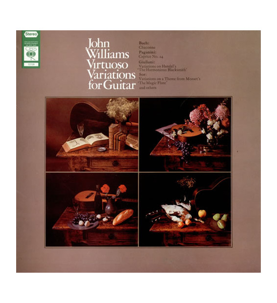John Williams (7) - Virtuoso Variations For Guitar (LP, Album) mesvinyles.fr