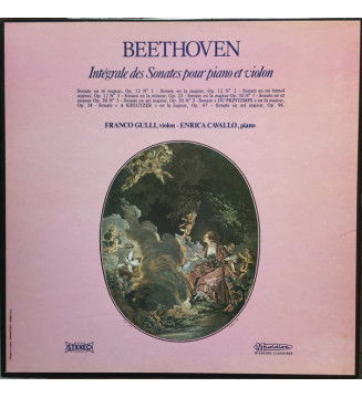 Beethoven*, Franco Gulli, Enrica Cavallo - Intégrale Des Sonates Pour Piano Et Violon (5 discs) (LP, Comp, Box) mesvinyles.fr