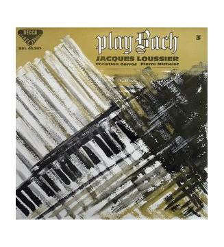 Jacques Loussier - Christian Garros - Pierre Michelot - Play Bach No. 3 (LP, Album)