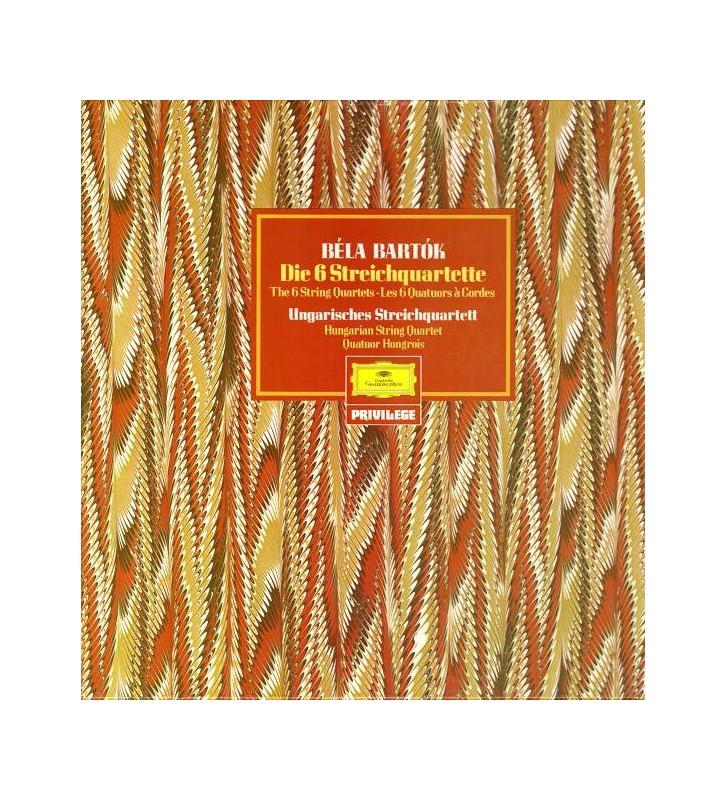 Béla Bartók, Ungarisches Streichquartett* - Die 6 Streichquartette (3xLP + Box) mesvinyles.fr