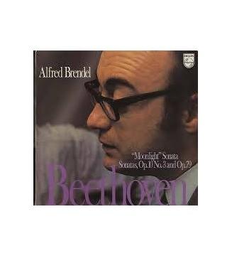 """Beethoven* - Alfred Brendel - Sonate No.14 """"Clair de Lune"""" - Sonate No.25 """"Alla Tedesca"""" - Sonate No.7 (LP, RE, Red) mesvinyles."""