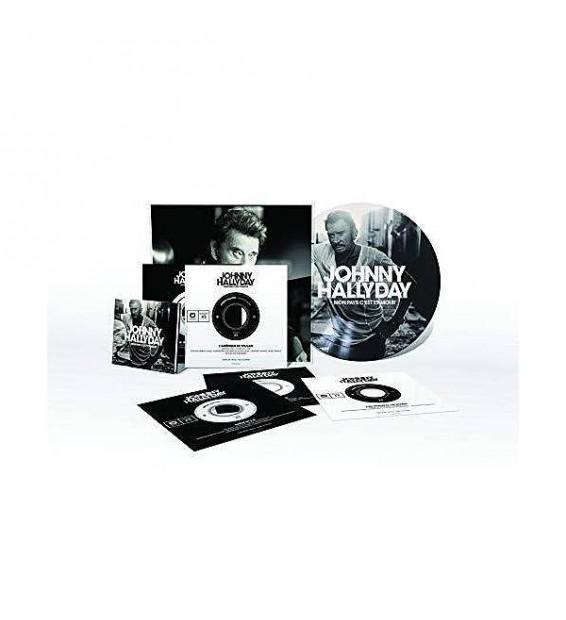 """Johnny Hallyday - Mon pays c'est l'amour - Boxset collector (7"""", Album, Ltd, Num, Pic, S/Edition)"""