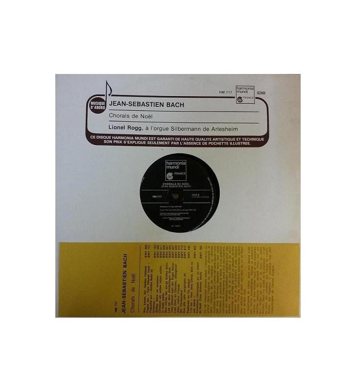 Johann Sebastian Bach, Lionel Rogg - Chorals De Noël (LP) mesvinyles.fr