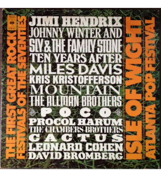 Various - The First Great Rock Festivals Of The Seventies - Isle Of Wight / Atlanta Pop Festival (3xLP)