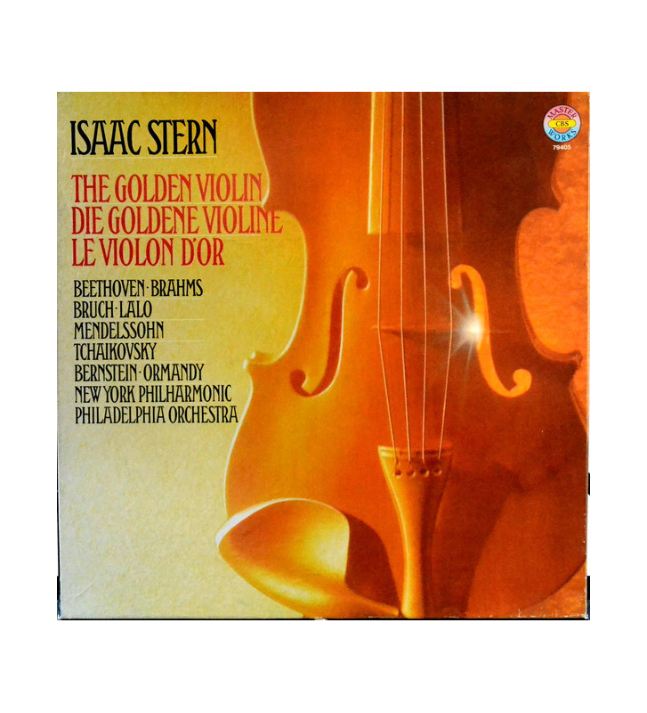 Isaac Stern, Beethoven*, Brahms*, Bruch*, Lalo*, Tchaikovsky*, Mendelssohn* - The Golden Violin (4xLP, RE + Box) mesvinyles.fr