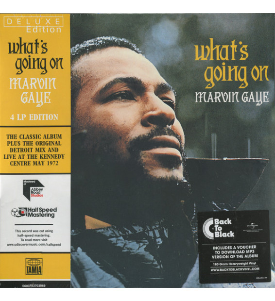 Marvin Gaye - What's Going On (4xLP, Album, Mono, Dlx, RE, RM, 180)