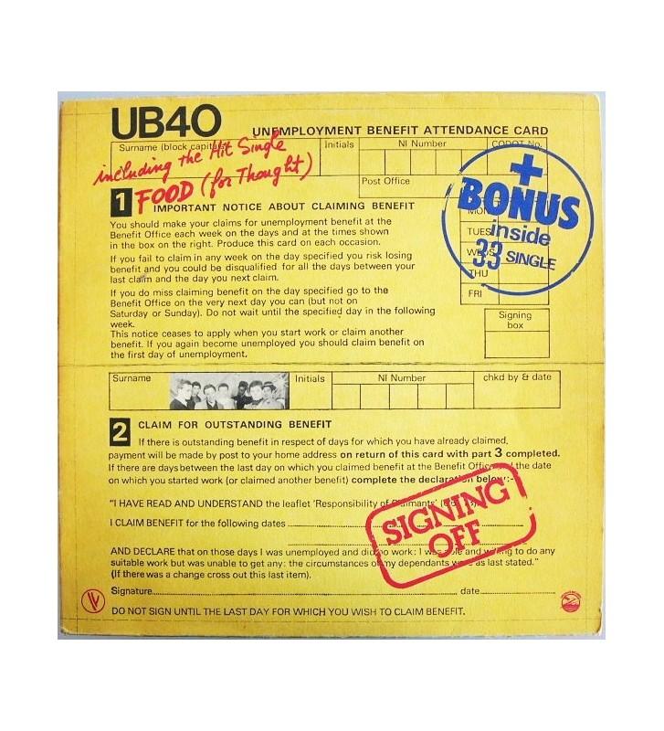 """UB40 - Signing Off (LP, Album + 12"""", Maxi) mesvinyles.fr"""