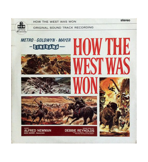 Alfred Newman, Debbie Reynolds, Ken Darby, MGM Studio Orchestra - How The West Was Won, Original Soundtrack (LP) mesvinyles.fr