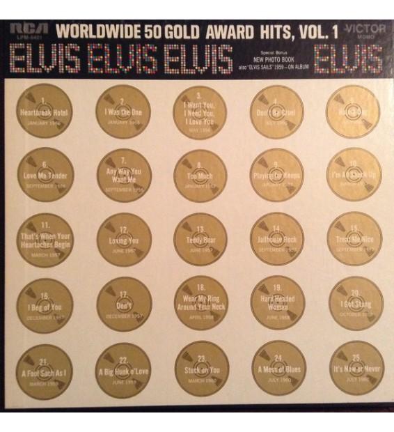 Elvis* - Worldwide 50 Gold Award Hits, Vol. 1 (4xLP, Comp, Mono, Ora + Box) mesvinyles.fr
