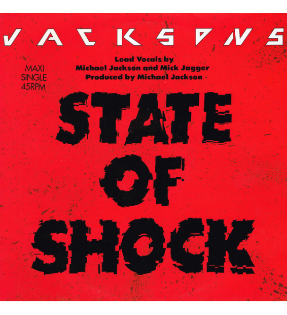 "Jacksons* - State Of Shock (12"", Maxi) mesvinyles.fr"