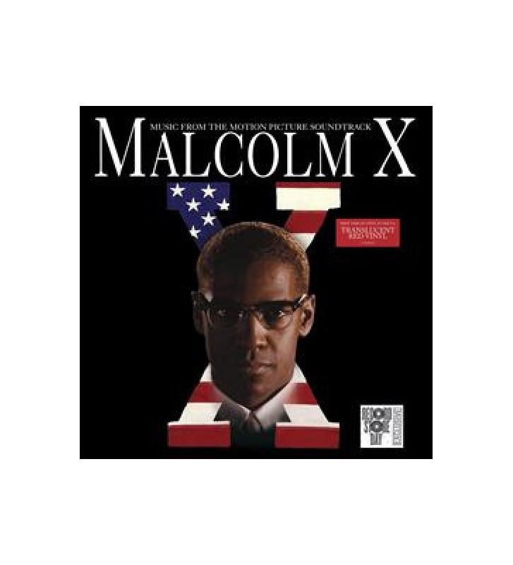 Various -  Malcolm X Music From The Motion Picture (LP, Album, Comp, RE, Red) BLACK FRIDAY 2019 mesvinyles.fr