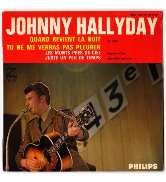 """Johnny Hallyday - Quand Revient La Nuit (7"""", EP, Mono) mesvinyles.fr"""