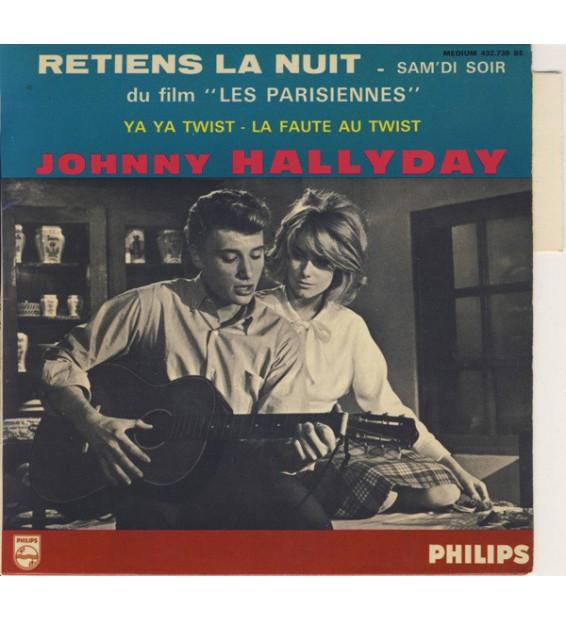 """Johnny Hallyday - Retiens La Nuit (7"""", EP, Mono) mesvinyles.fr"""
