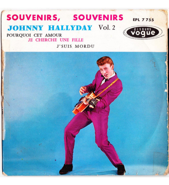"""Johnny Hallyday - Souvenirs, Souvenirs (7"""", EP, RP, No ) mesvinyles.fr"""