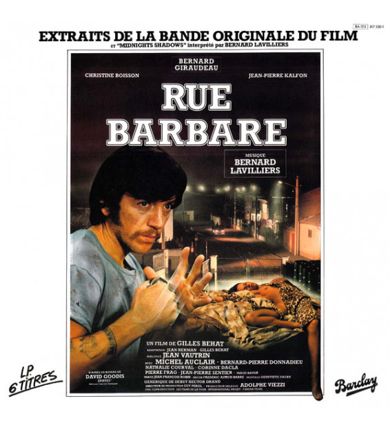 "Bernard Lavilliers - Rue Barbare (Extraits De La Bande Originale Du Film Et ""Midnight Shadows"") (LP, Album)"