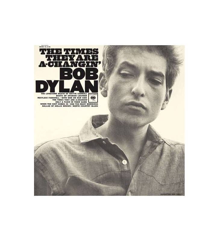 Bob Dylan - The Times They Are A-Changin' (LP, Album, Mono, RE, 180) mesvinyles.fr