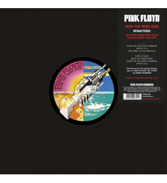 Pink Floyd - Wish You Were Here (LP, Album, RE, RM, 180) mesvinyles.fr