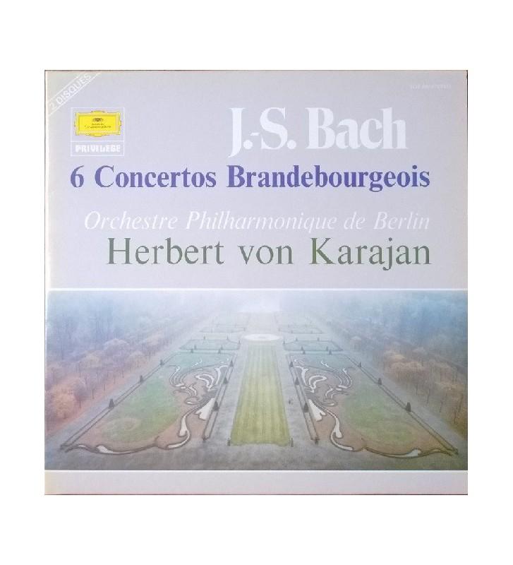 Herbert von Karajan, Orchestre Philharmonique de Berlin* - J.S. Bach* - 6 Concertos Brandebourgeois (2xLP, RE, Gat) mesvinyles.f
