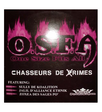 "O.S.F.A. - Chasseur De Rimes (12"", EP) mesvinyles.fr"