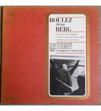 Boulez* Conducts Berg* - Daniel Barenboim / Sachko Gawriloff* / Halina Lukomska, BBC Symphony Orchestra - Three Pieces For Orch