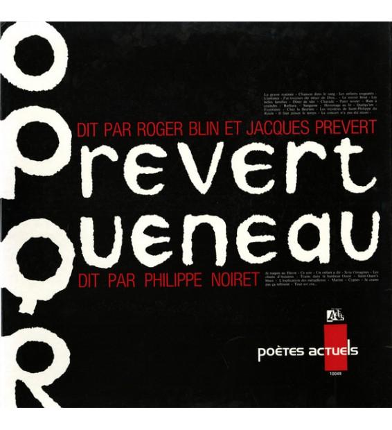 Prévert* Dit Par Roger Blin, Jacques Prévert / Queneau* Dit Par Philippe Noiret - Prevert, Queneau (LP, Album, Gat) mesvinyles.f