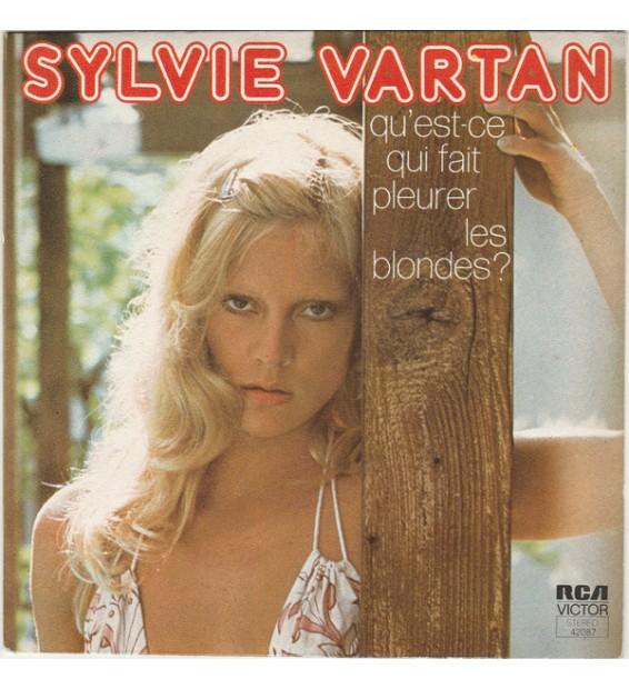 """Sylvie Vartan - Qu'est-ce Qui Fait Pleurer Les Blondes? (7"""", Single, Pap) mesvinyles.fr"""