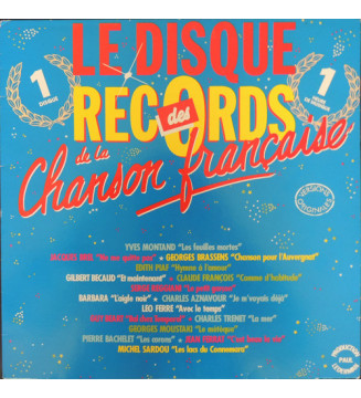 Various - Le Disque Des Records De La Chanson Française (LP, Comp) mesvinyles.fr
