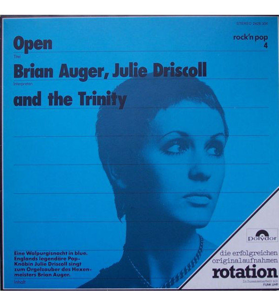 Brian Auger, Julie Driscoll And The Trinity* - Open (LP, Album, RE) mesvinyles.fr