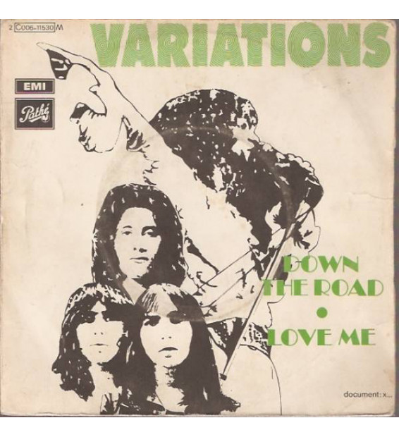 "Variations (2) - Down The Road / Love Me (7"", Single) mesvinyles.fr"