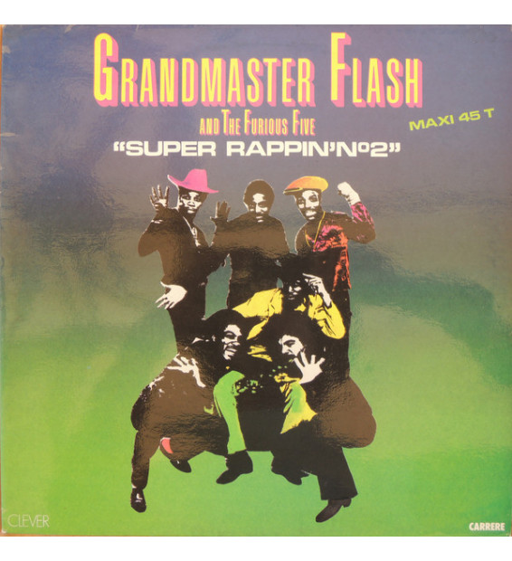 "Grandmaster Flash And The Furious Five* - Super Rappin' N°2 (12"", Maxi) mesvinyles.fr"