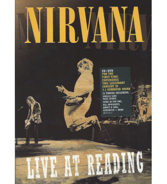 Nirvana - Live At Reading (CD + DVD-V, Multichannel, Reg) mesvinyles.fr