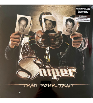 Sniper (6) - Trait Pour Trait (2xLP, Album, RE) mesvinyles.fr
