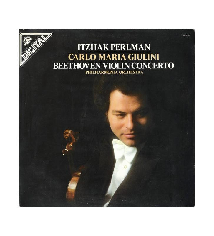 Beethoven* - Itzhak Perlman, Carlo Maria Giulini, Philharmonia Orchestra - Violin Concerto (LP) mesvinyles.fr