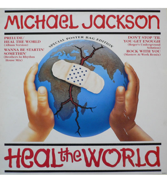 """Michael Jackson - Heal The World (Special Poster Bag Edition) (12"""") mesvinyles.fr"""