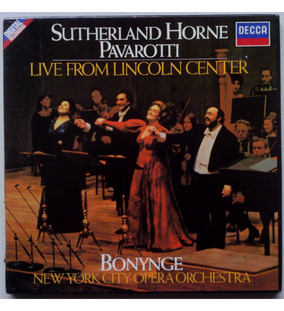 Bonynge*, Sutherland*, Horne*, Pavarotti*, New York City Opera Orchestra - Live From Lincoln Center (2xLP) mesvinyles.fr