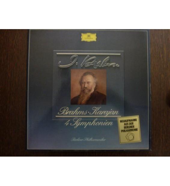 Brahms* - Karajan*, Berliner Philharmoniker - 4 Symphonien (4xLP + Box) mesvinyles.fr