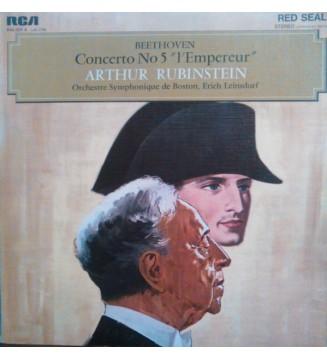 """Beethoven* - Arthur Rubinstein, Boston Symphony Orchestra / Erich Leinsdorf - Concerto No. 5 """"L'Empereur (LP, Mono) mesvinyles.f"""