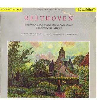 """Beethoven* - Orchestre De La Société Des Concerts De Vienne* Dirigé Par Karl Ritter - Symphonie N° 9 En Ré Mineur, Opus 125 """"Av"""