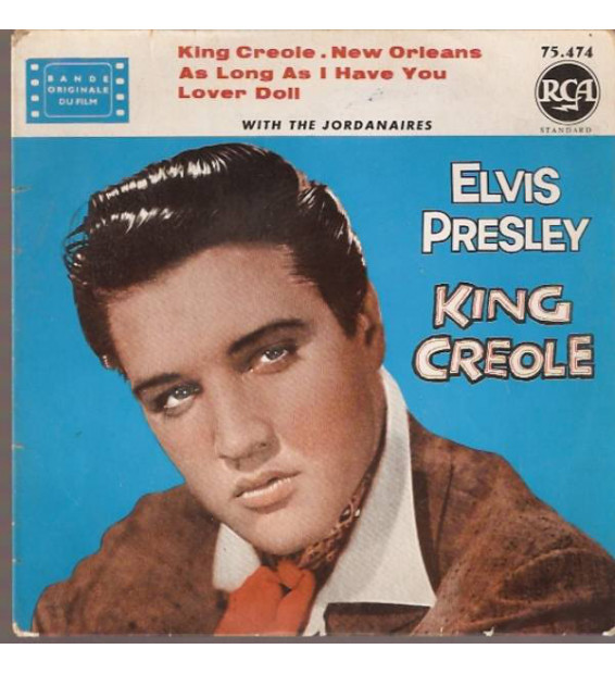 "Elvis Presley With The Jordanaires - King Creole (7"", EP, RE, Yel) mesvinyles.fr"