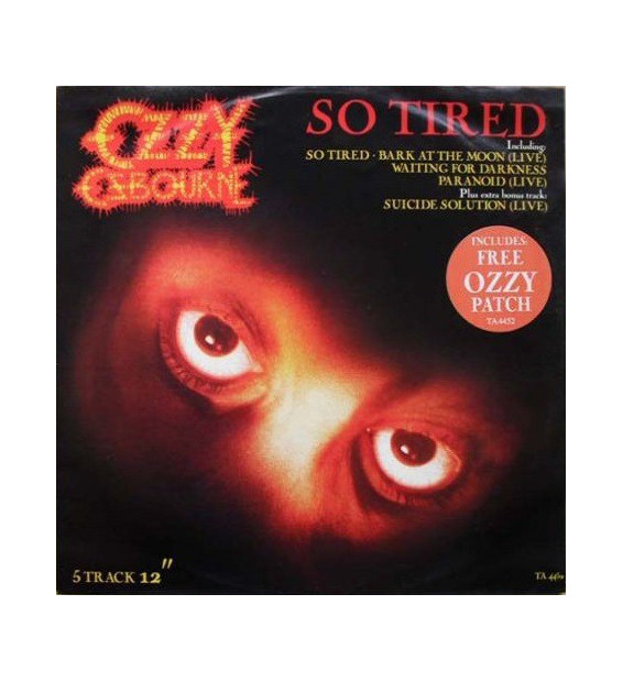 "Ozzy Osbourne - So Tired (12"", Single) mesvinyles.fr"
