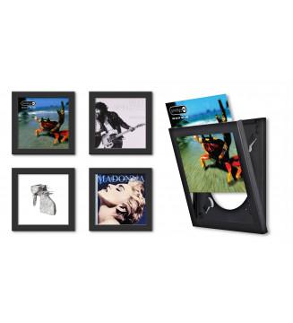 Cadre noir pour disque vinyle à ouverture frontale mesvinyles.fr