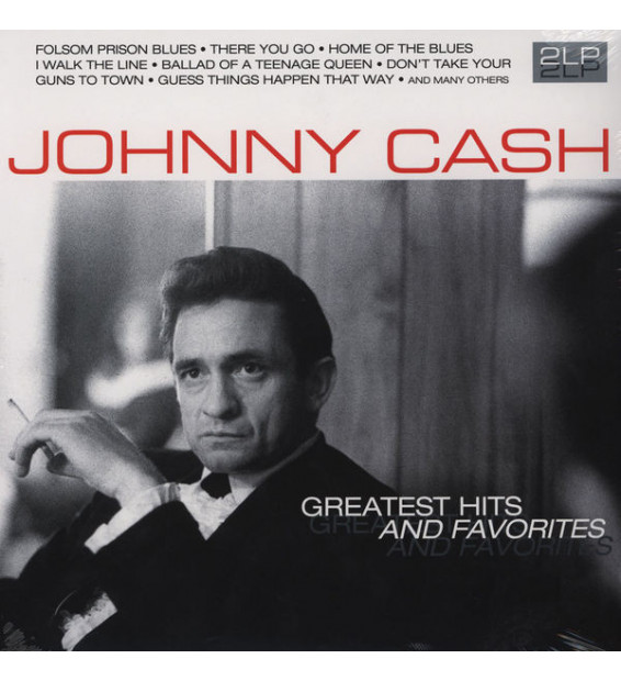 Johnny Cash - Greatest Hits And Favorites (2xLP, Comp) mesvinyles.fr
