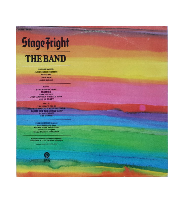 The Band - Stage Fright (LP, Album, RE) mesvinyles.fr