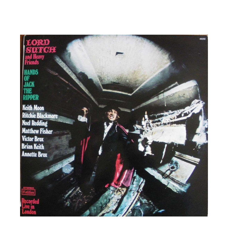 Lord Sutch And Heavy Friends - Hands Of Jack The Ripper (LP, Album) mesvinyles.fr